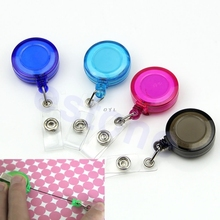 1PC Retractable Ski Pass ID Card Badge Holder Key Chain Reels Keyring With Clip