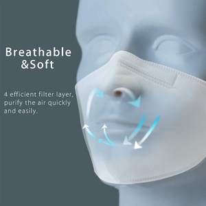 Image 3 - Original Purely Anti Pollution Air Face Mask with PM2.5 550mAh Battreies Rechargeable Filter From Youpin