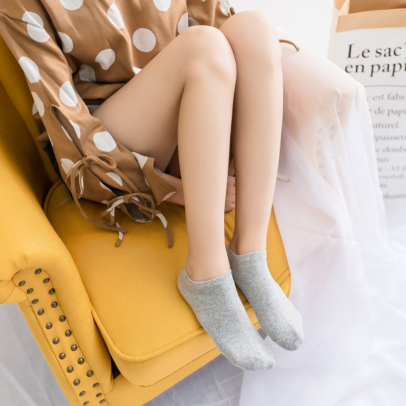 Women's High Quality Cotton Socks Shallow mouth 33