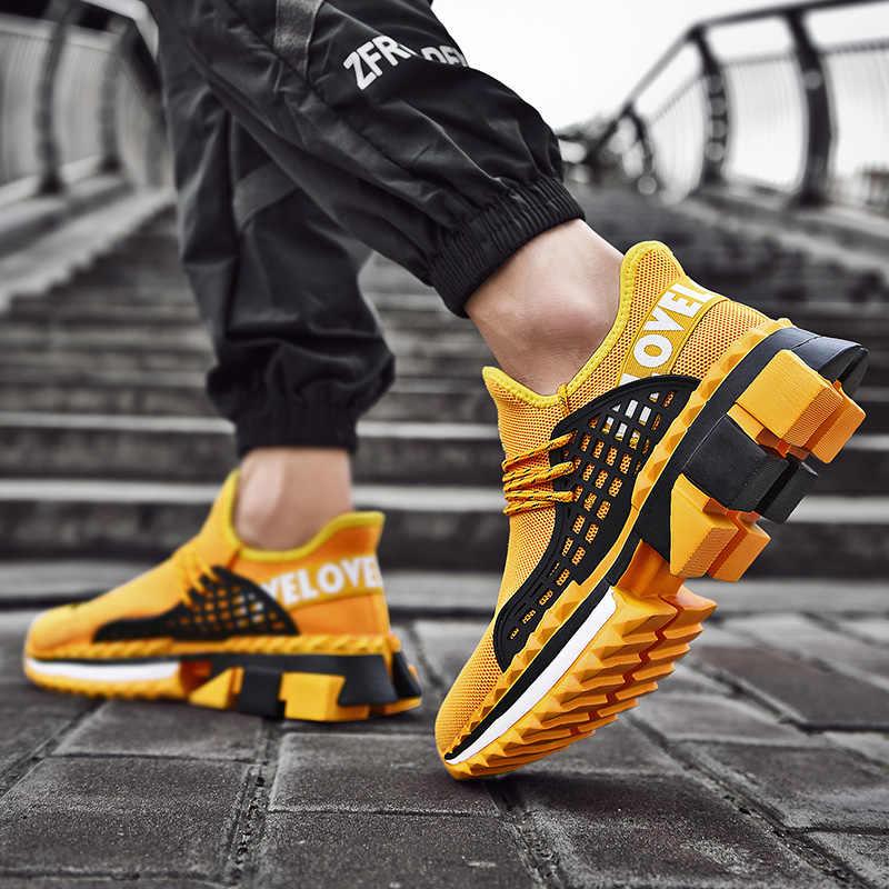 Moda Ins erkek ayakkabıları sonbahar nefes marka spor ayakkabı erkekler spor eğitmenler erkek ayakkabı artı büyük boy 47 Zapatos De Hombre