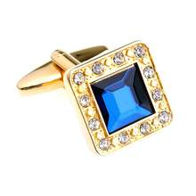 2019 European And American Foreign Trade New Square Crystal Cufflinks Super Fashion Hundred Matching French Cufflinks Male(China)