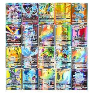 Image 5 - Hoge Kwaliteit 10 300 Pcs Kaarten Tag Team Gx Ex Mega Kaarten Engels Kaarten Speelgoed Voor Kids Gift