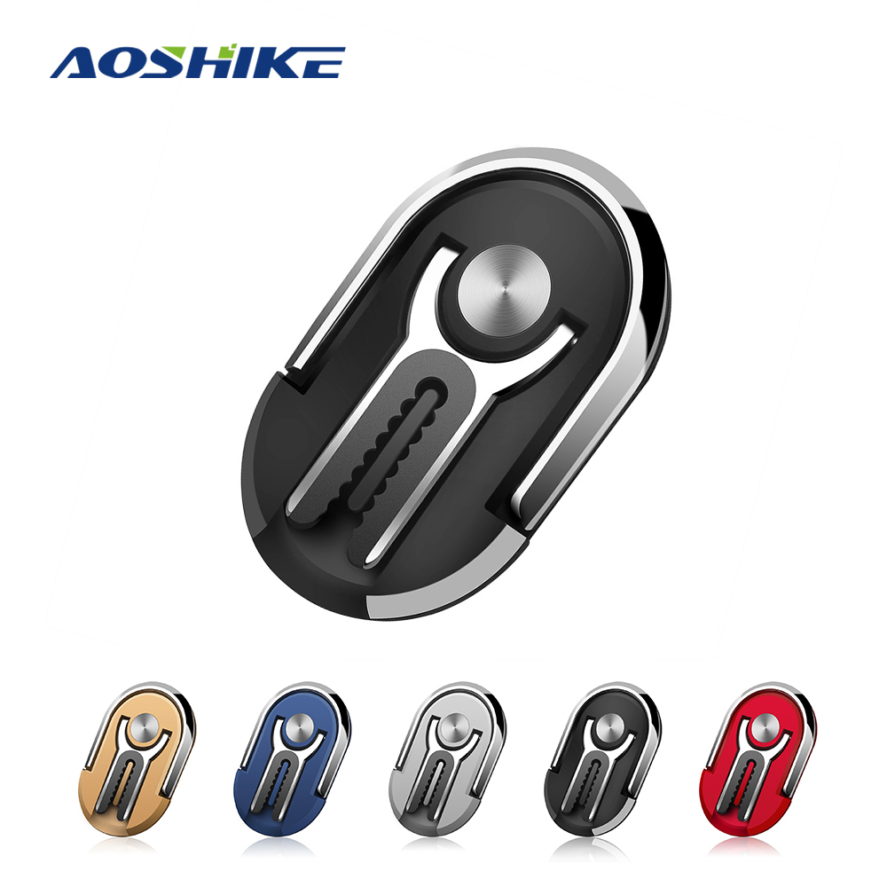 AOSHIKE  2 In 1 Car Air Vent Mount Support Mobile Magnetic Ring Stand Air Outlet Car Phone Ring Bracket Universal Finger Ring