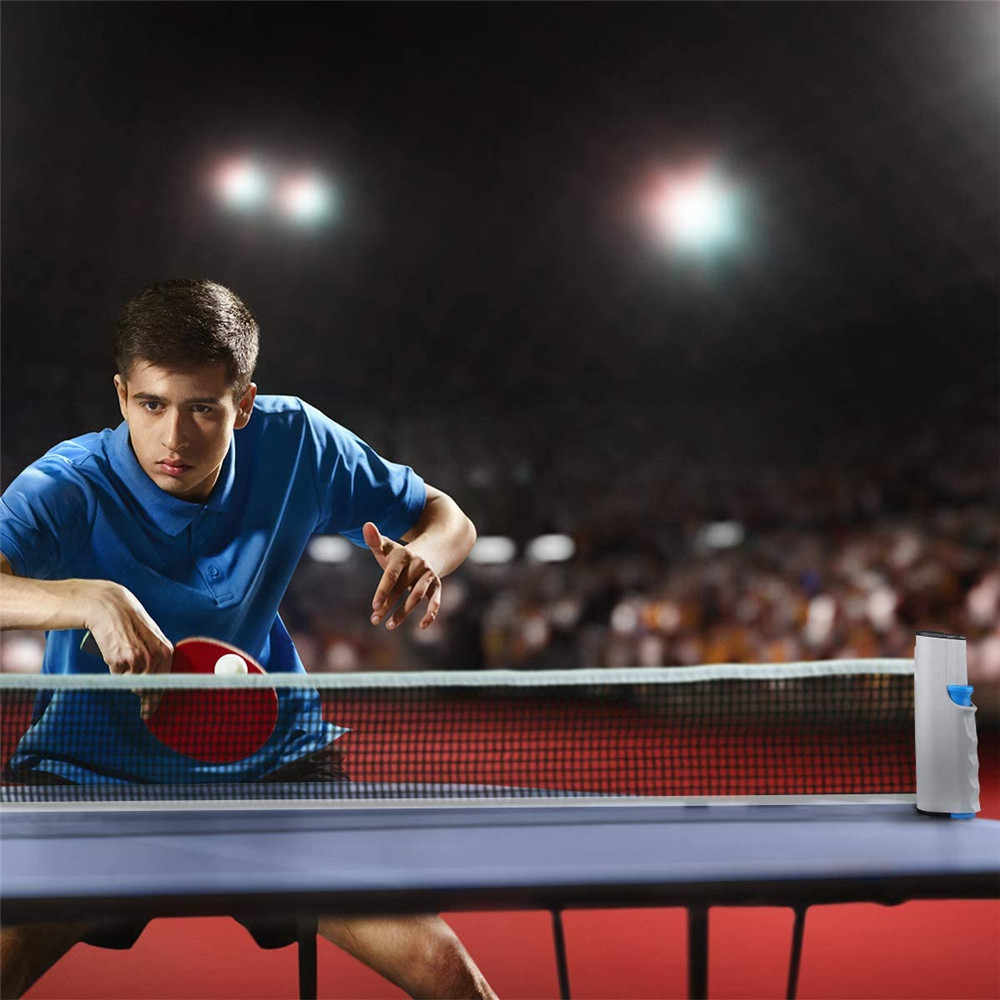 Filet de Ping-Pong réglable de remplacement de filet de Ping-Pong rétractable + pinces de support pour tout sport extérieur d'intérieur portatif de Table