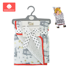 Winter Baby Stroller Wrap Blanket Windproof Carriage Pram Buggy Cart Seat Cover Thickened Swaddling Baby Stroller Accessories