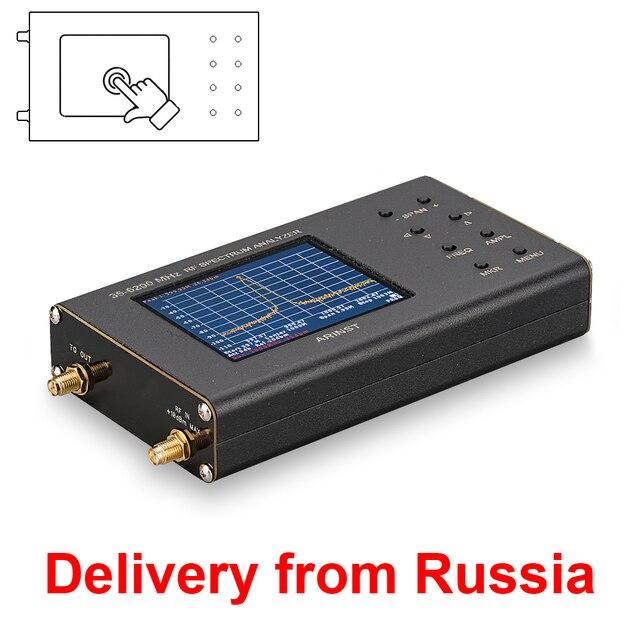 Портативный радиочастотный анализатор спектра Arinst Spectrum Explorer SSA TG R2 с генератором отслеживания 6,2 ГГц с сенсорным экраном