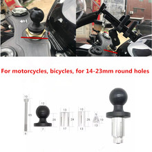 Motorcycle Bike Mount Black Fork Stem Base with 1 inch Ball Head for gopro Ball Mount Adapter