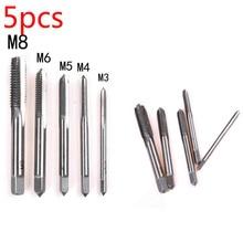 Hand-Tap-Drill-Set Fluted Screw-Thread Metric-Plug HSS M6-M8-Machine M4 Straight M3 M5