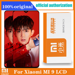Image 1 - 6.39 AMOLED Original LCD For xiaomi Mi 9 Mi9 Display xiaomi 9 LCD Display Touch ScreenDigitizer Assembly with frame