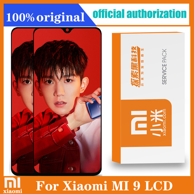 6.39 AMOLED Original LCD For xiaomi Mi 9 Mi9 Display xiaomi 9 LCD Display Touch ScreenDigitizer Assembly with frame