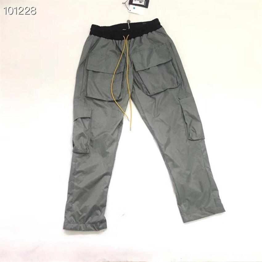 New RHUDE Pants Men Big Pockets 1:1 Best Quality Camouflage Joggers Sweatpants Trousers Mens Jogger RHUDE Camo Pants