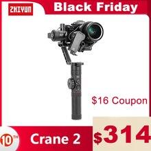 ZHIYUN Crane 2  공식 크레인  3 축 짐벌 안정기 DSLR 미러리스 카메라의 모든 모델에 대한 캐논 5D2/3/4 서보 따라 초점