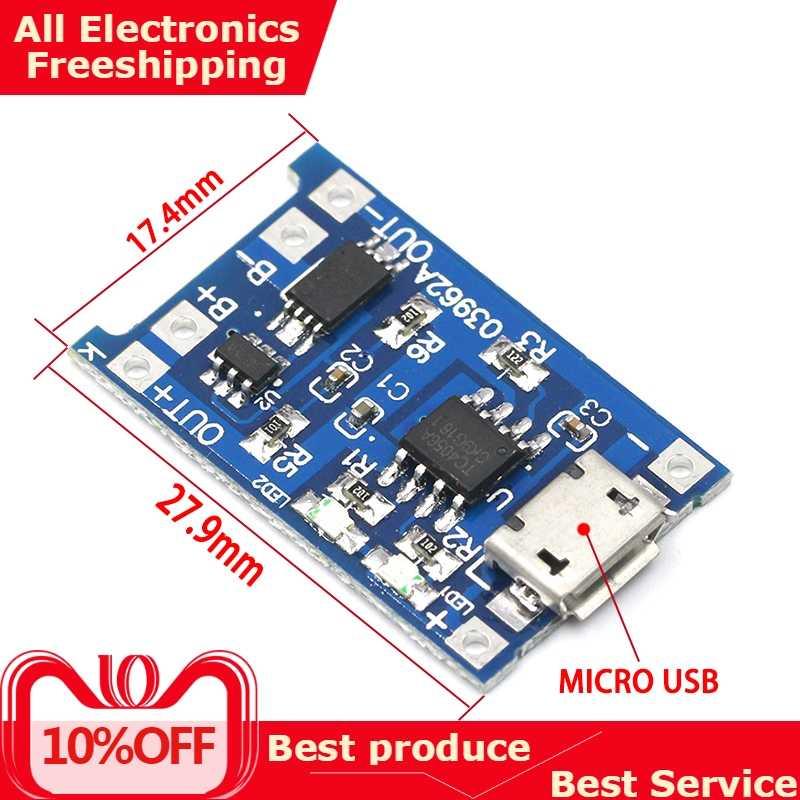 Type-c/Micro USB 5V 1A 18650 TP4056 литиевый модуль зарядного устройства аккумулятора зарядная плата с защитой двойные функции 1A li-ion