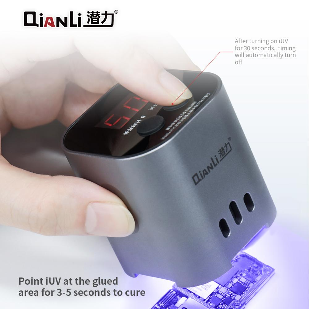 QIANLI Repair Green Phone Curing Oil IUV Adhesive Fast For LCD UV Lamp 3S Motherboard Lamp Purple Light Glue Intelligent Curing