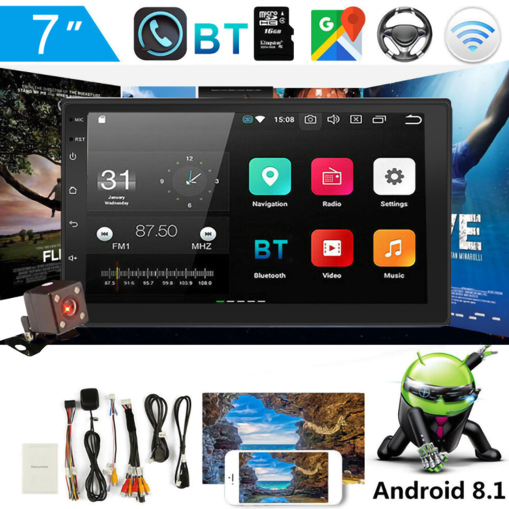 9218 7 Zoll Android 8,1 Auto Blau Zahn MP5 Player Auto GPS Navigation Alle-in-one