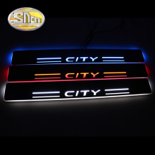 4PCS Acrylic Moving LED Welcome Pedal Car Scuff Plate Pedal Door Sill Pathway Light For Honda CITY 2012 2014 2015 2016 2017 2018 waterproof acrylic moving led welcome pedal car scuff plate pedal door sill pathway light fit for everest 2016 2017 2018