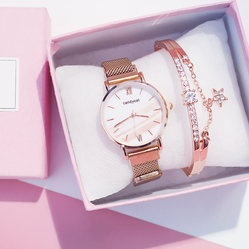 Watch Bracelet Women Wristwatches Fashion Clock For Girl Student Xfcs Trending Rose Gold Strap Lady Watches Relojes Para Mujer