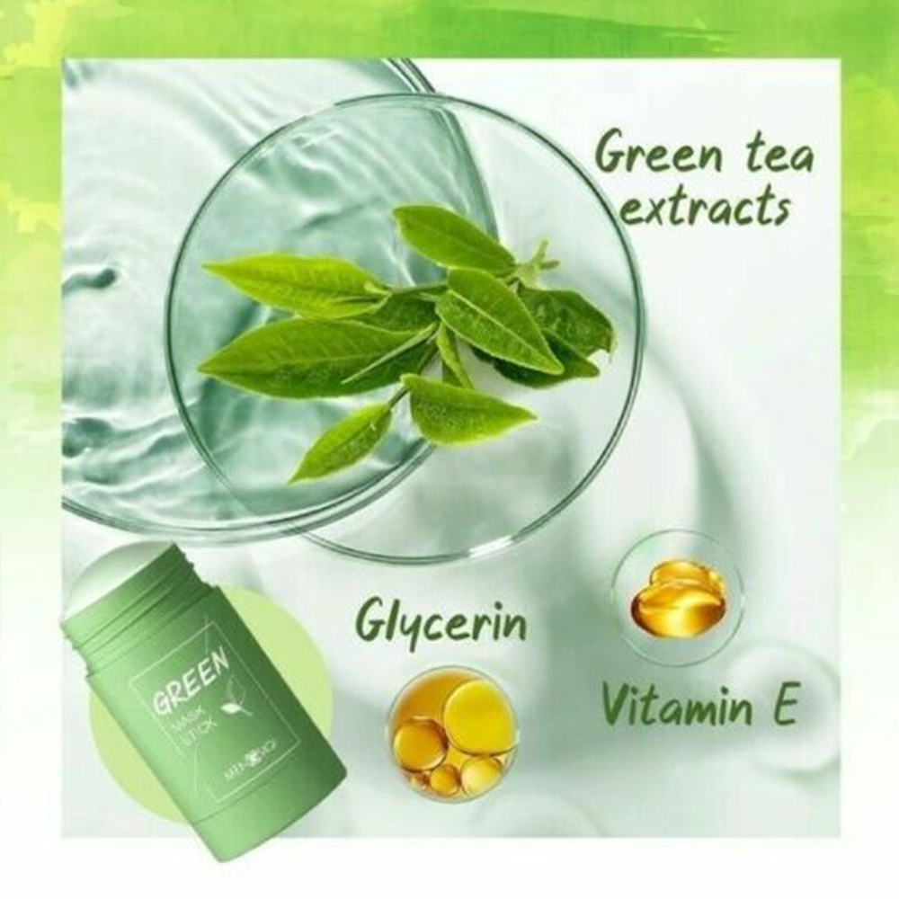 Green Tea Mask Stick Cleansing Face Mask 6