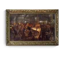 HD Adolph Von Menzel Eisen walzwerk Klassische kunstwerk leinwand malerei print poster wand bild home decor no frame kostenloser versand
