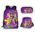 HaoYun 3 шт./компл. школьный рюкзак для девочек и мальчиков-подростков  рюкзак с принтом Beyblade Burst