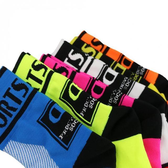 Alta qualidade marca profissional ciclismo esporte meias proteger pés respirável wicking meias ciclismo meias meias bicicletas 6