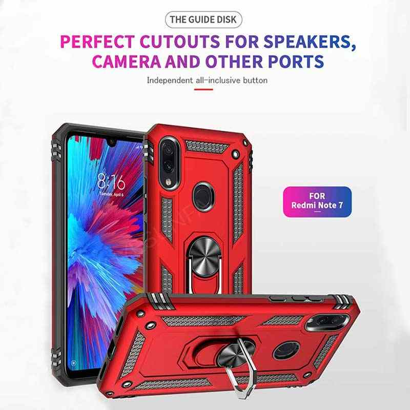Luxury Shockproof Car Holdar Ring Case On The For Xiaomi Redmi 7 Note 7 K20 Pro Bumper Case Cover For Xiaomi Mi 9 SE Soft Cases