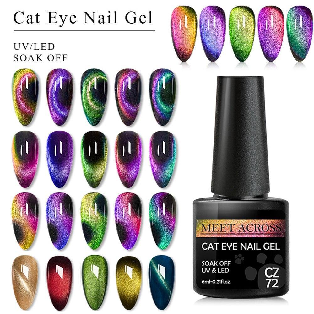 Smalto per unghie Cat Eye smalto per magneti Laser 9D Soak Off UV LED luccichio lacca magnetica lucido Design di bellezza smalti