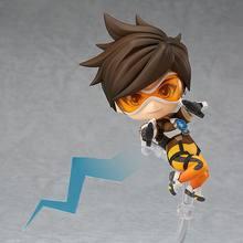 Anime jogo ow bonito kawaii tracer 10cm figura de ação brinquedos
