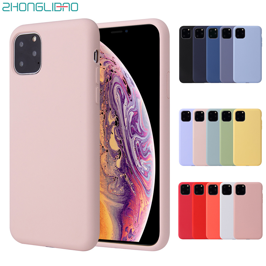 <font><b>Original</b></font> Liquid Silicone <font><b>Case</b></font> for <font><b>IPhone</b></font> 11 Pro Max 2019 <font><b>Case</b></font> for Apple XS Max XR X 8 7 6 <font><b>6s</b></font> Plus Full Cover NEW Box No Logo 1:1 image