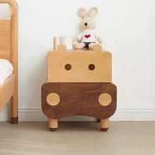 Bedside Cabinet Bedroom Wood Locker-Shelf Creative Modern Cartoon Children's Simple