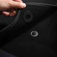 Trava universal de tapete para carro, 4 peças, clipes de fixação para tapete para vw nissan peugeot subaru toyota honda mazda