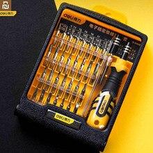 Original youpin deli 33 em 1 conjunto de reparação de precisão eletrônica haste de extensão antiderrapante alça para reparar componentes de telefones inteligentes