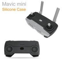 Para mavic mini controle remoto silicone capa protetora caso protetor de pele à prova de poeira para dji mavic mini caso acessórios
