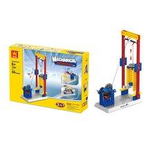 Blocks-Set Plastic Assembled Building-Blocks Educational-Toys Teaching-Machinery Group