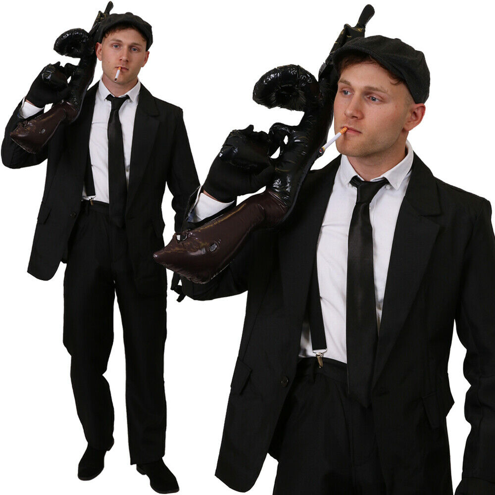 SHELBY GANGSTER COSTUME hommes PEAKY BLINDERS fantaisie robe tenue 1920S STAG DO