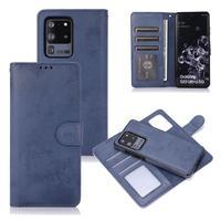 Funda de cartera desmontable para teléfono móvil, carcasa magnética de cuero vegana para Galaxy Note 20 S20 Plus, Samsung S21 Note 20 Ultra A52 A51