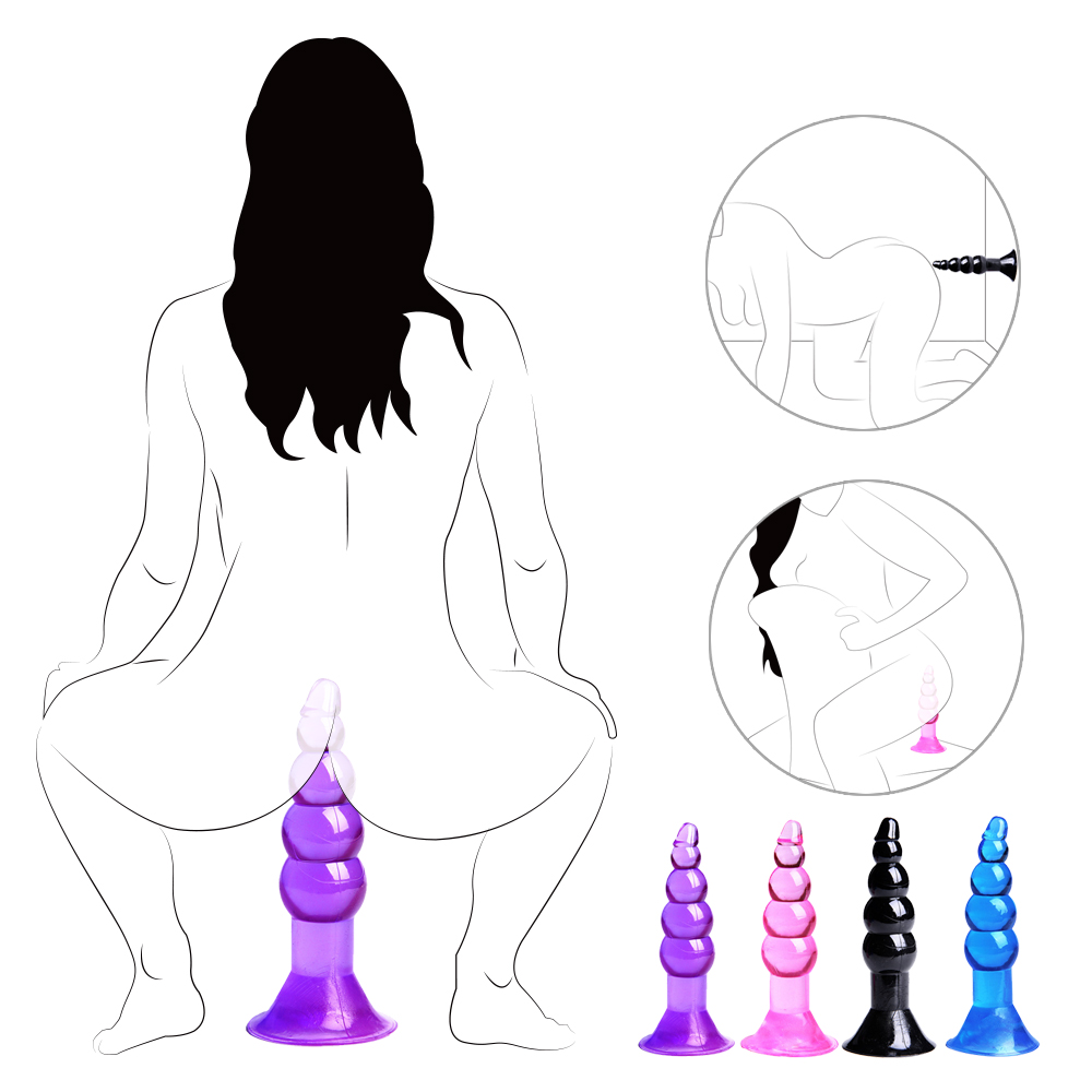 Soft Bead Ball Anal Plug Massager With Suction Cup Anus Sex Toys For Women Men Masturbator 4 Different Color Toys With Sucker