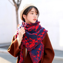 2019 fashion scarf autumn/winter style literary women's thickened warm