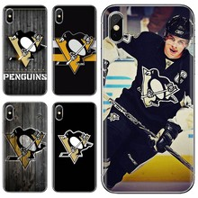 Silicone Skin Cover For Xiaomi Mi A1 A2 A3 5X 6X 8 9 9t Lite SE Pro Mi Max Mix 1 2 3 2S Ice Hockey Pittsburgh Penguins Logo(China)