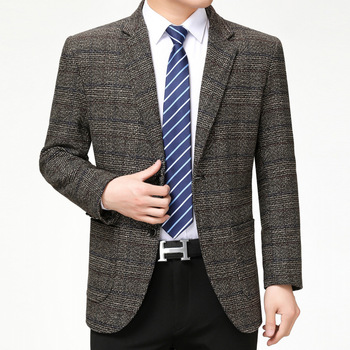 Mens Autumn Spring Jacket Fashion Brand Blazer British's Style Casual Slim Fit Suit cotton Male Blazers top Coat Dropshipping