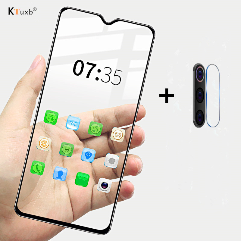 2 in 1 Tempered Glass For Xiaomi A3 Lite Redmi K30 7 7A 8 8A Full cover Screen Protector For Redmi Note 6 7 8 Pro 8T Protective(China)