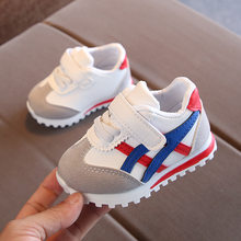 219 New children sports shoes for boys girls baby toddler kids flats sneakers fashion casual infant soft shoe(China)