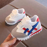 219 Nuove scarpe sportive per bambini per le ragazze dei ragazzi del bambino del bambino dei capretti degli appartamenti scarpe da ginnastica di moda casual bambino scarpa morbida