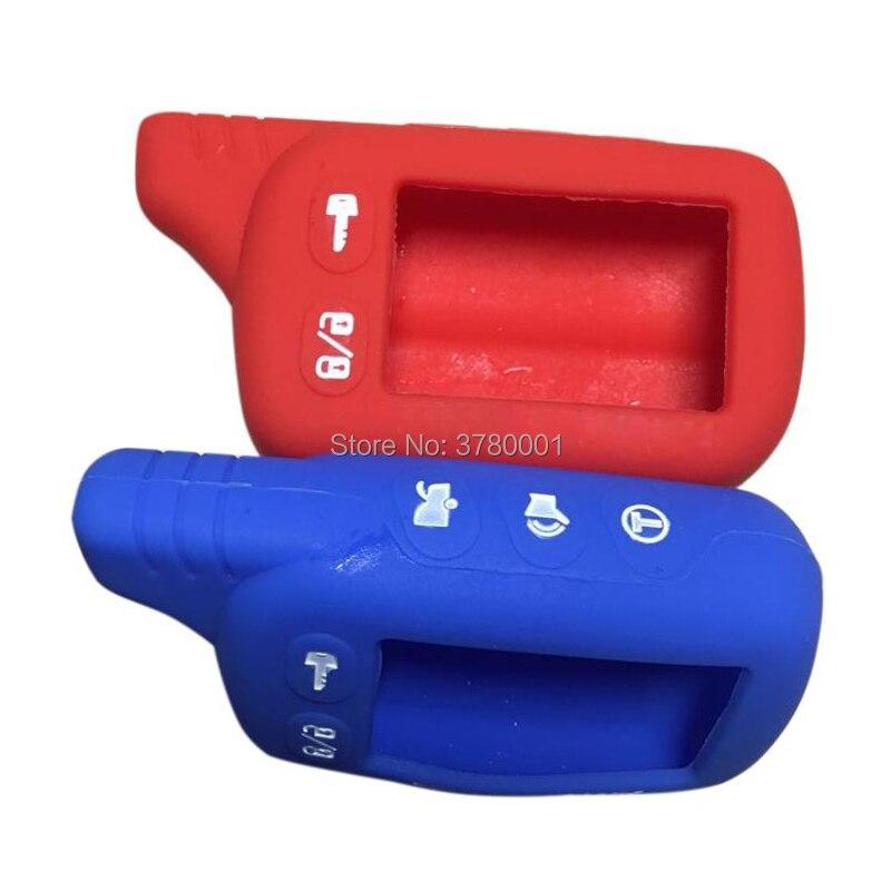 Wholesale Blue/Red TZ9010 Silicone Key Case For Tomahawk Tz-9010 Tz-9030 Tz-9020 Remote Keychain,Tz 9010 9030 9020,Tz9030 Tz9020