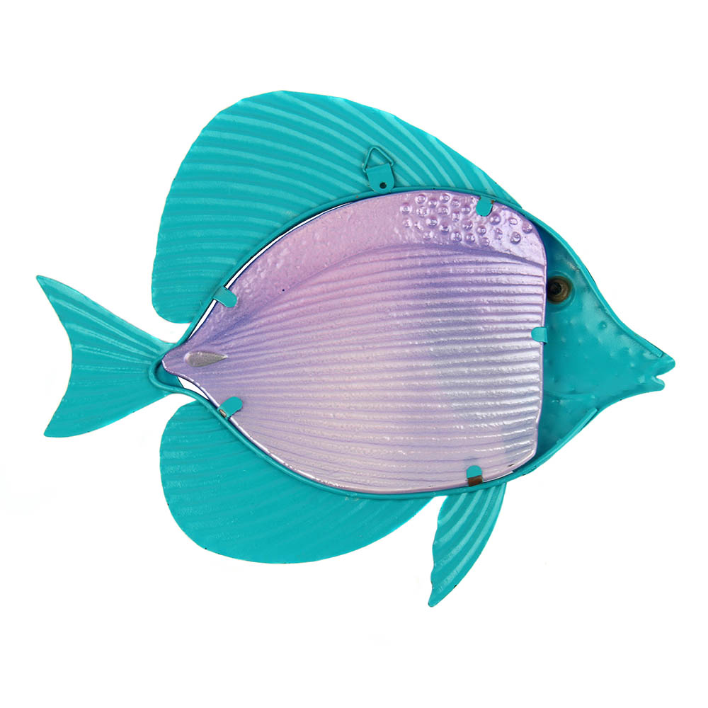 Home Decor Metal Fish Artwork for Garden Decoration Outdoor Animales Jardin with Colour Glass for Garden Statues and Sculptures 3