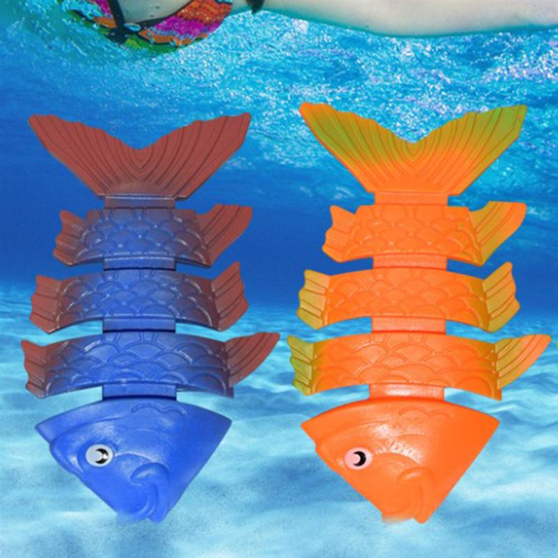 3PC Diving Toys Creative Swimming Pool Water Training Diving Fish Toys For Kids Children ( Mixed Color)