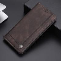 Casos por Honor 8X 9X caso de la cubierta de cierre magnético cartera libro Flip cuero liso bolsas del teléfono para Huawei Honor 8 X Coque