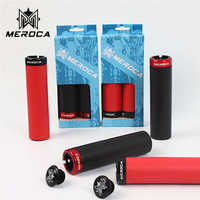 MEROCA  MTB Grips Bicycle Lockable Silicone 22.2mm Mountain Bike Handle Bar Grip Superlight  Bicycle Accessories 1 Pair
