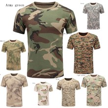 Tops Tshirt Military Camouflage Outdoor Man ZOGAA 9-Colors Short-Sleeve Printed Casual