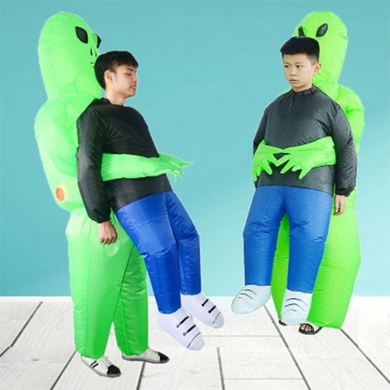 Inflatable Halloween Alien Holds My Costume Kids Walk Show Child Funny Props Set P31B